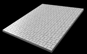 Площадка на могилу (армированный бетон + тротуарная площадка)