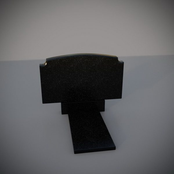 Памятник на могилу горизонтальный ушки