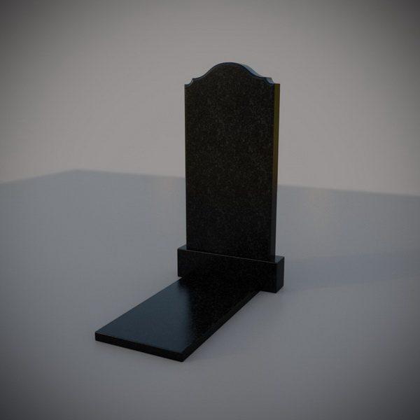 """Гранитный памятник на могилу """"Полуовал с плечиками"""""""