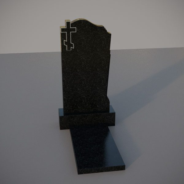 Памятник на могилу c резным крестом GVK001-2