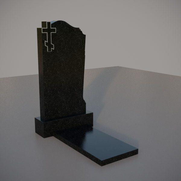 Памятник на могилу c резным крестом GVK001-3