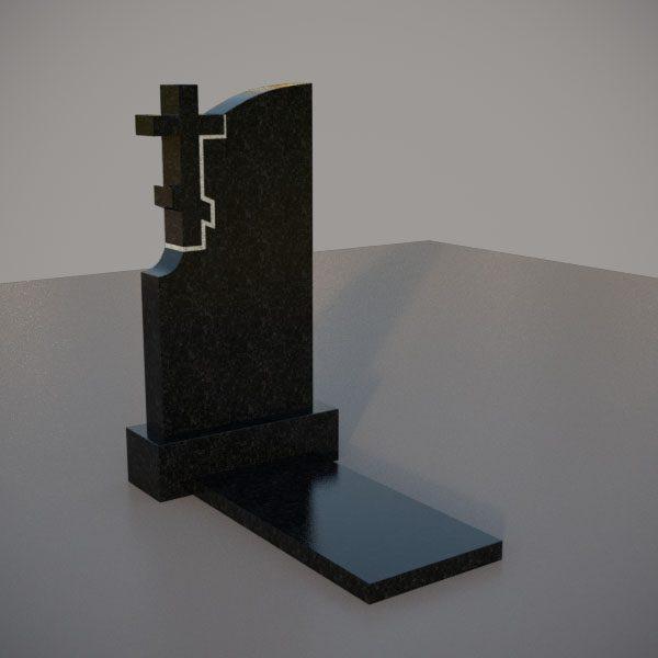 Памятник гранитный на могилу с резным крестом
