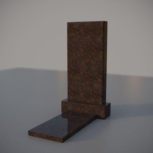 Памятник на могилу из дымовскго гранита прямой формы