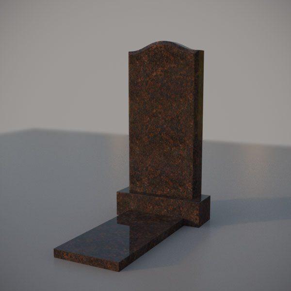 """Памятник на могилу из дымовскго гранита с формой """"Плечи"""""""