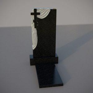 Памятник гранитный на могилу с резным крестом и плащаницей