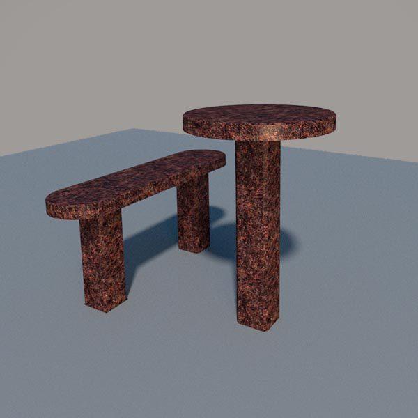 Стол и лавка из дымовского гранита SLD004_2