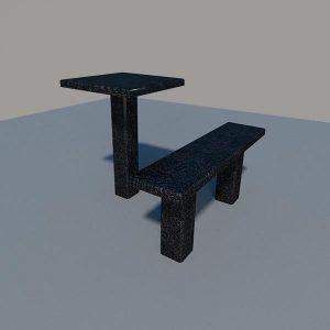Стол и лавка из карельского гранита SLG001