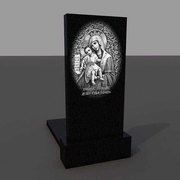 Гравировка на обратной стороне памятника obr204