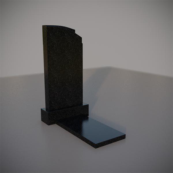 Памятник на могилу с резным верхом GVA009-3