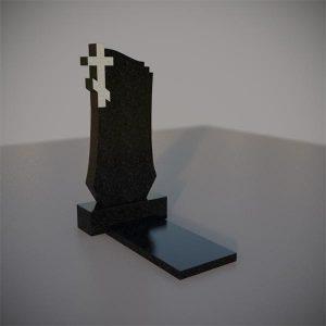 Памятник на могилу с резным крестом GVK009-3