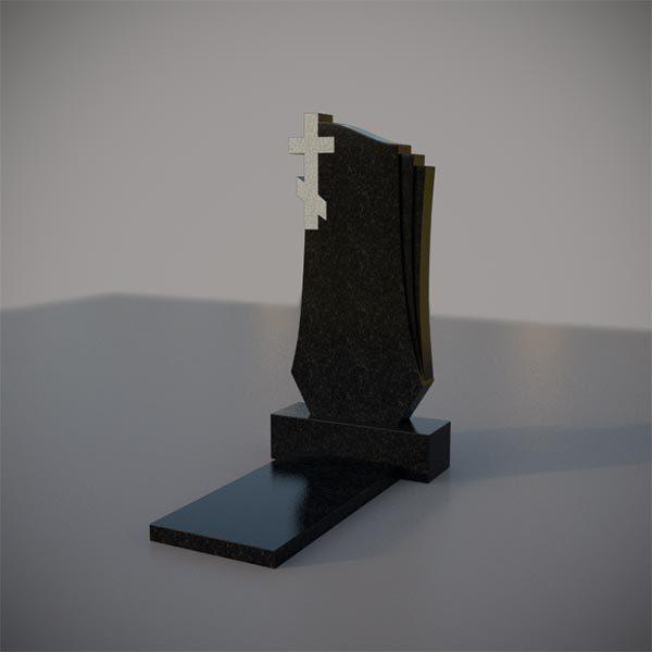 Памятник на могилу с резным крестом GVK009