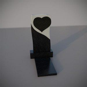 Памятник на могилу с резным сердцем GVS005-2