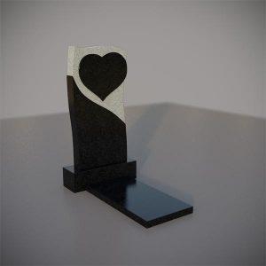 Памятник на могилу с резным сердцем GVS005-3