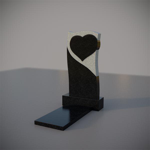 Памятник на могилу с резным сердцем GVS005