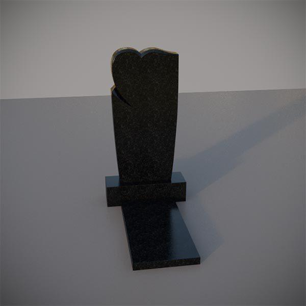 Памятник на могилу с резным сердцем GVS006-2