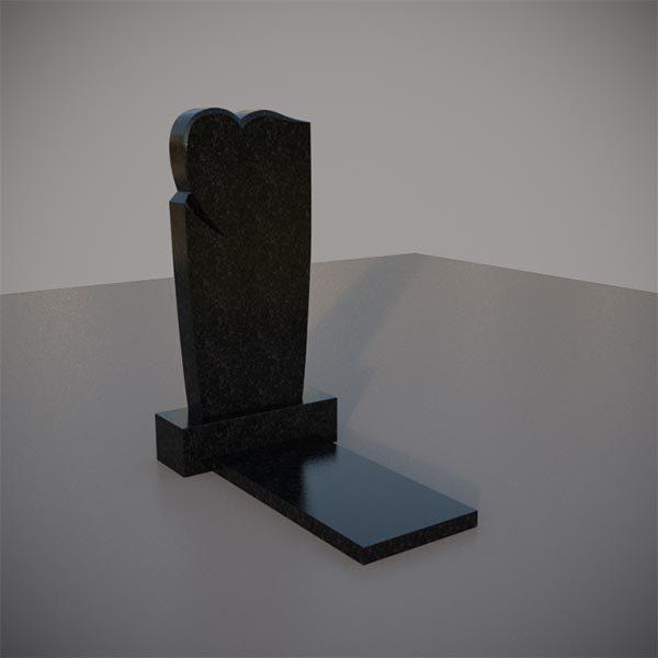 Памятник на могилу с резным сердцем GVS006-3