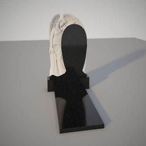 Памятник на могилу с фрезерованным ангелом GVF001-2