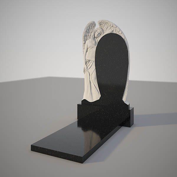 Памятник на могилу с фрезерованным ангелом GVF001
