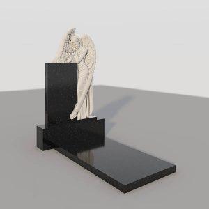 Памятник на могилу с фрезерованным ангелом GVF002-3