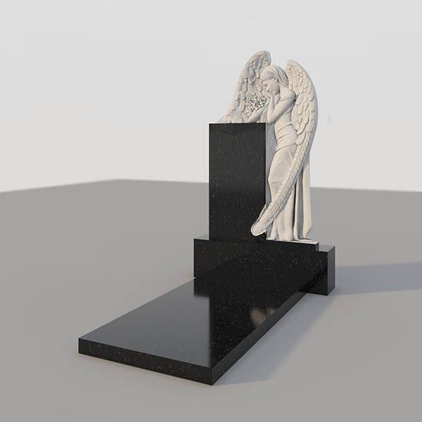 Памятник на могилу с фрезерованным ангелом GVF002