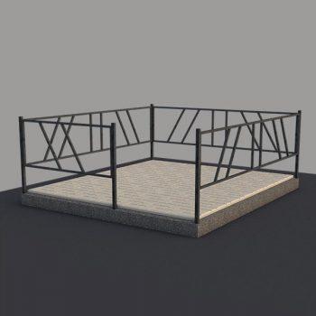 Металлическая ограда на могилу OGR002
