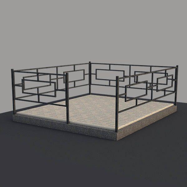 Металлическая ограда на могилу OGR101