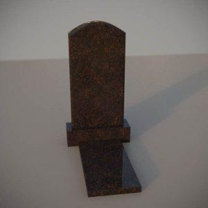 Памятник на могилу из дымовскго гранита с резной формой DVA004-2