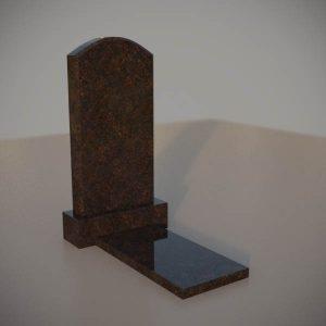 Памятник на могилу из дымовскго гранита с резной формой DVA004-3