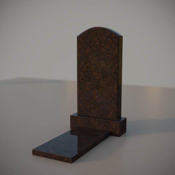 Памятник на могилу из дымовскго гранита с резной формой DVA004