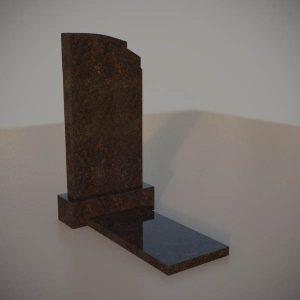Памятник на могилу из дымовскго гранита с резной формой DVA009-3