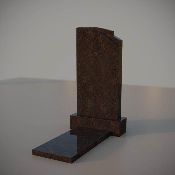 Памятник на могилу из дымовскго гранита с резной формой DVA009