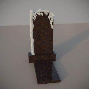Памятник на могилу из дымовскго гранита с резным дубом DVD003-2