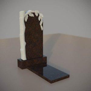 Памятник на могилу из дымовскго гранита с резным дубом DVD003-3
