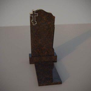 Памятник на могилу из дымовского гранита с резным крестом DVK001-2