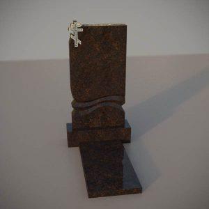 Памятник на могилу из дымовскго гранита с резным крестом DVK002-2