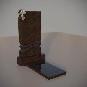 Памятник на могилу из дымовскго гранита с резным крестом DVK002-3