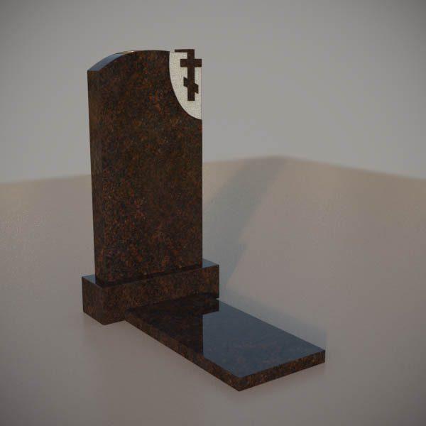 Памятник на могилу из дымовскго гранита с резным крестом DVK003-3