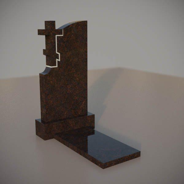 Памятник на могилу из дымовского гранита с резным крестом DVK004-3