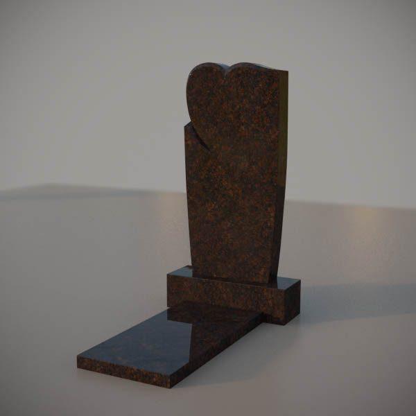 Памятник на могилу из дымовского гранита c резным сердцем DVS006
