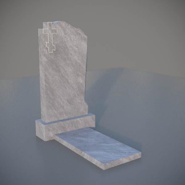 Мраморный памятник на могилу с резным крестом MVK001-3