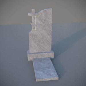 Мраморный памятник на могилу с резным крестом MVK004-2