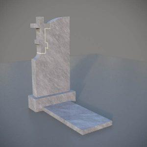 Мраморный памятник на могилу с резным крестом MVK004-3