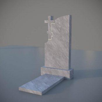 Мраморный памятник на могилу с резным крестом MVK004