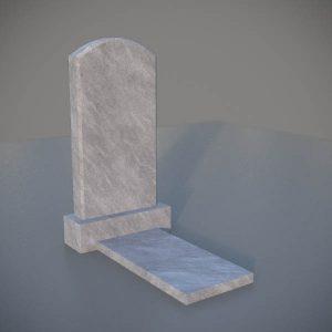 """Мраморный памятник на могилу с резной формой """"Полуовал"""" MVA004-3"""
