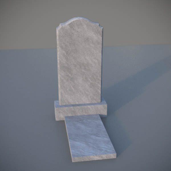 """Мраморный памятник на могилу с резной формой """"Полуовал с плечиками"""" MVA005-2"""