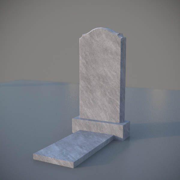 """Мраморный памятник на могилу с резной формой """"Полуовал с плечиками"""" MVA005"""