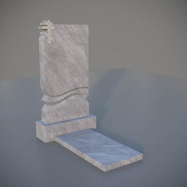 Мраморный памятник на могилу с резным крестом MVK002-3