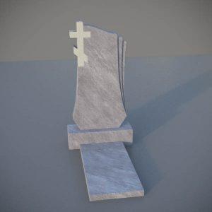 Мраморный памятник на могилу с резным крестом MVK009-2