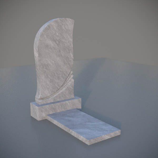 """Мраморный памятник на могилу с резной формой """"Пламя"""" MVP003-3"""