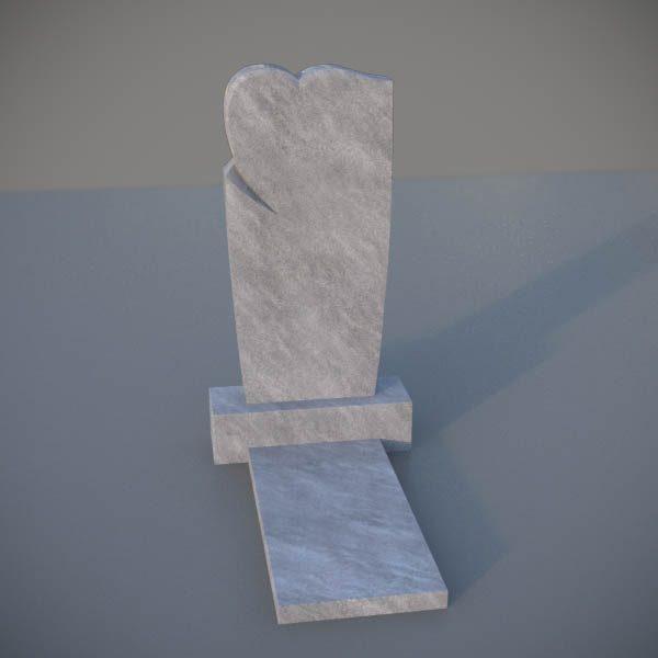 Мраморный памятник на могилу с резным сердцем MVS006-2